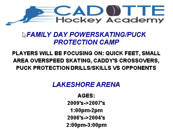 Family Day Powerskating/Puck Protection Camp