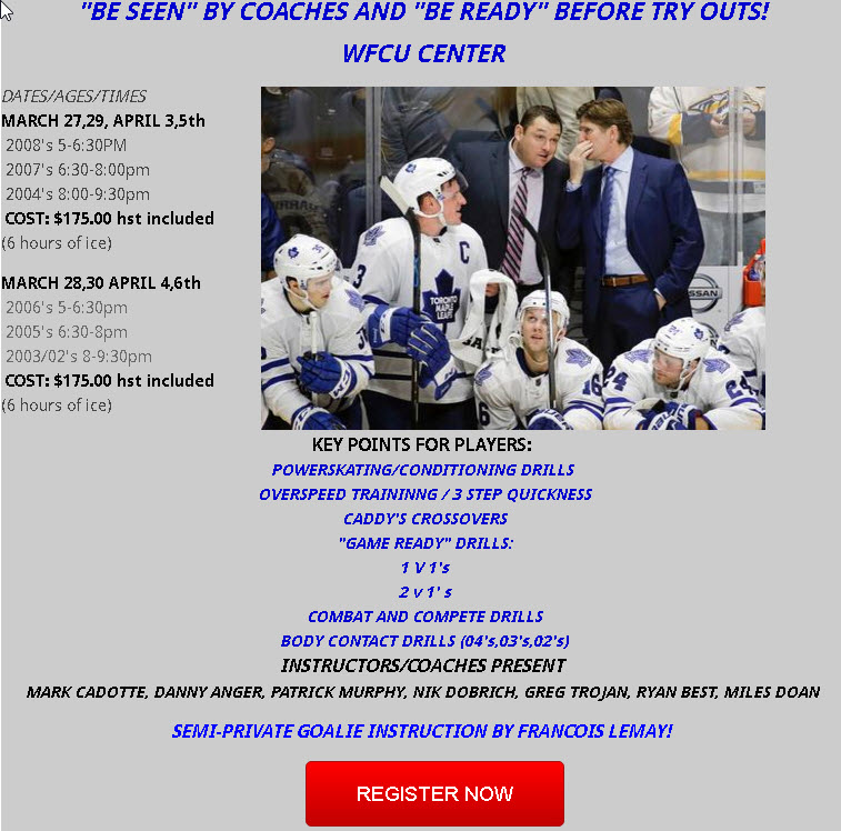 Pretryout Camps